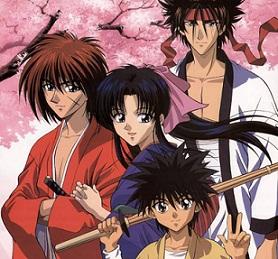 kenshin, sagara sanosuke, kamiya kaoru,  myōjin yahiko