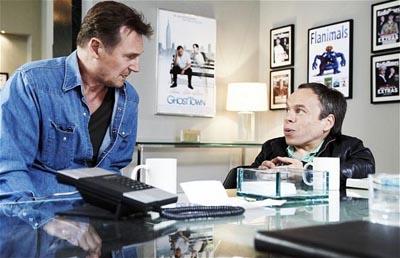 Liam Neeson ve Warwick Davis
