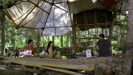 lost resort'da açık büfe kahvaltı.