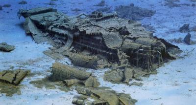 Sular altındaki Titanic'ten bir görüntü