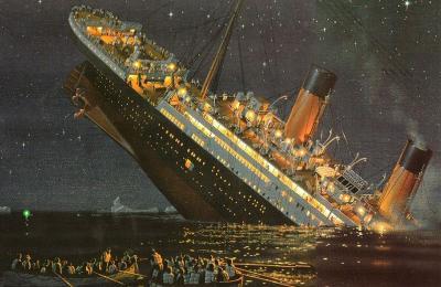 Titanic'in batışının temsili resmi - filmden