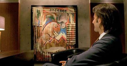 Mr.Widmore 'un ofisindeki tablo: kutup ayısı, tersten Namaste yazısı