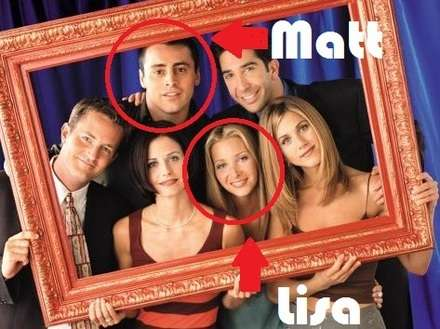 Friends'den Matt ve Lisa Showtime'da
