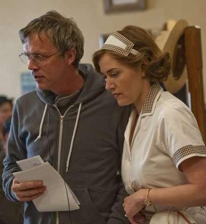 Yönetmen Todd Haynes ve Kate Winslet (dizinin setinden)
