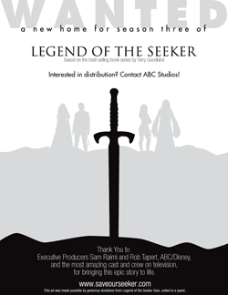 Legend of the Seeker'ı kurtarın - Hollywood Reporter