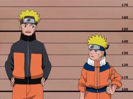 Küçük Naruto ve büyük Naruto