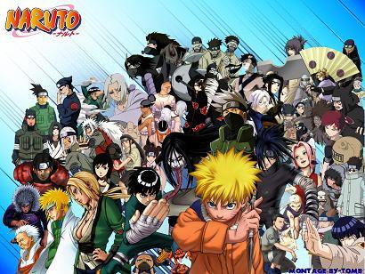 Kalabalık Naruto dünyasının bir kısmı