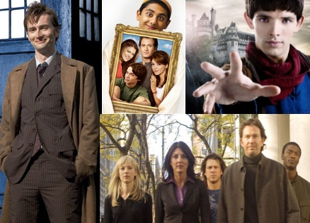 doctor who, aliens in america, merlin ve leverage