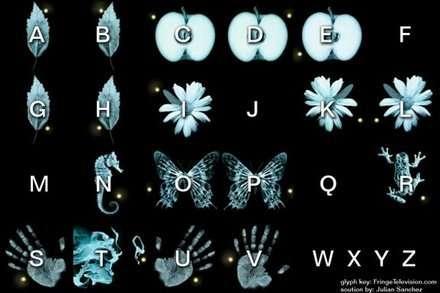 sembollerden oluşturulan alfabe