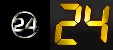 bunlarda dizi olan 24'ün logoları